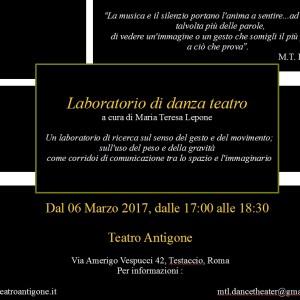 Laboratorio di Danza Teatro dal 6 marzo ore 17.00